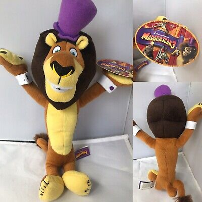 """Dreamworks Madagascar Alex The Lion 15"""" Plush Soft Toy With Tag Circus Outfit • 6.99£"""