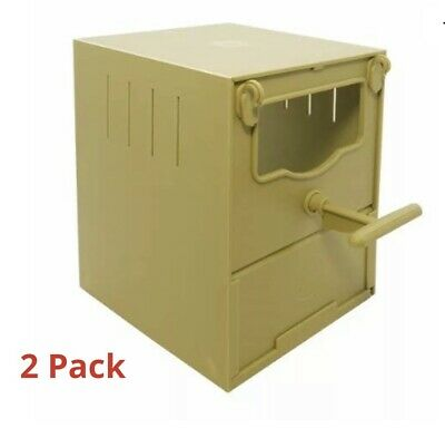 £11.95 • Buy 2 X PLASTIC FINCH NEST BOX WITH HOOKS Front & Back For Finches Wide Gouldian