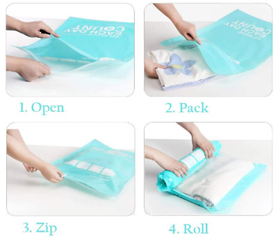 £3.49 • Buy Roll Up Compression Vacuum Storage Seal Bag Space Saving For Traveling 70x45cm