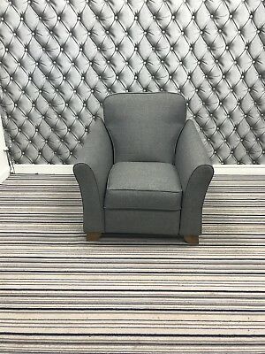 Marks And Spencer Abbey Manual Recliner Chair In Berro Plain,Charcoal Fabric • 449£