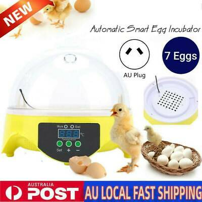 AU18.99 • Buy 7Egg Automatic Incubator Fully Digital Turning Chicken Duck Eggs Poultry Hatcher