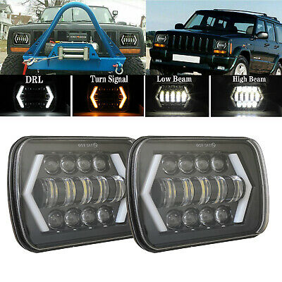 AU94.04 • Buy 2Pcs 7x6 5X7 LED Headlight Hi/Lo Beam DRL For Hilux 88-97 Jeep Cherokee Toyota