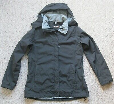Black Peter Storm Jacket With Concealed Hood, Size 10 • 8.50£