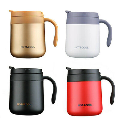 AU24.99 • Buy STAINLESS STEEL Travel MUG Vacuum Insulated WIDE Cup Coffee Thermal With Handle