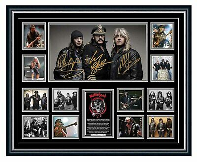 AU99.99 • Buy Motorhead Lemmy Bad Magic Sacrifice Signed Limited Edition Framed Memorabilia