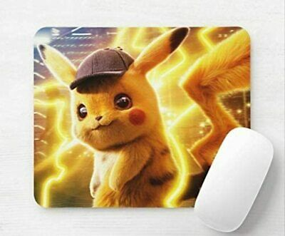 Pokemon Detective Pikachu Computer Mouse Mat Pad Rectangular 5mm • 5.99£