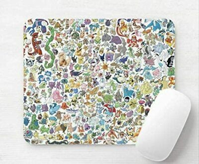 Pokemon Mix All Pokedex Computer Mouse Mat Pad Rectangular 5mm • 5.99£