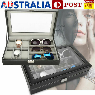 AU23.89 • Buy 6+3 Grid Watch Sunglasses Display Box Storage Glasses Organizer Holder Case Gift