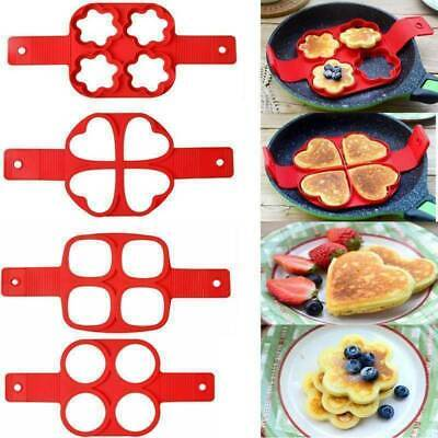 Silicone Nonstick Pancakes Maker Egg Ring Cheese Omelette Cooker Pan Flip Mould • 2.99£