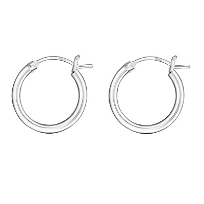 AU19.95 • Buy 925 Sterling Silver Thick French Lock Hoop Huggies Hoops Men Women Girls