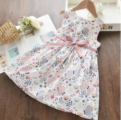 AU29.95 • Buy Girls Dress New Size 2/3/4/5y 100% Cotton Butterfly Floral Dress- Select Size