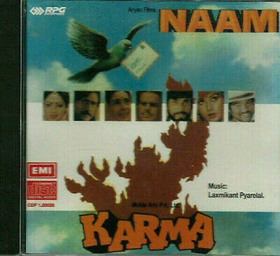 NAAM / KARMA CD Laxmikant Pyarelal / Anand Bakshi * BOLLYWOOD * HINDI * INDIAN * • 39.99£