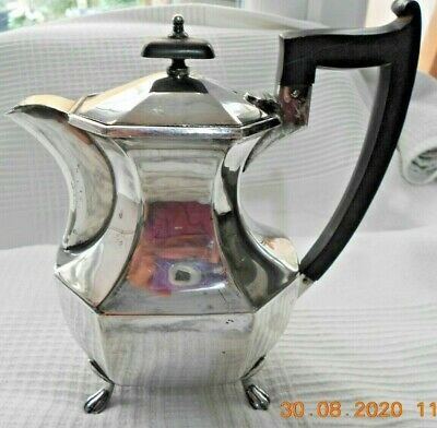 Quality Silver Plated Teapot By Viners Of Sheffield C1900s-1920s • 22£
