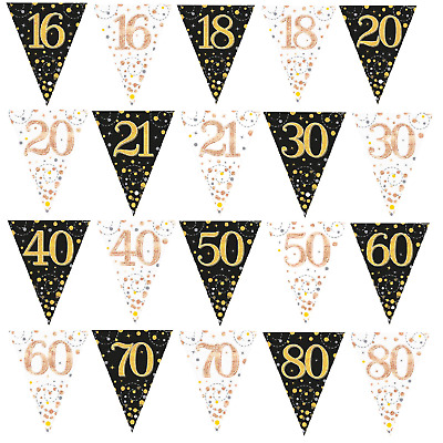 £2.99 • Buy TRIANGLE FLAG BUNTING Fizz Happy Birthday Garden Party BUNTING Home Decoration
