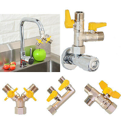 Brass Water Ball Valve Shunt One In Two/Three Out Control Tap Connecter Valves • 9.69£