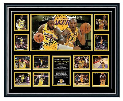 AU99.99 • Buy Lebron James & Kobe Bryant La Lakers Signed Limited Edition Framed Memorabilia