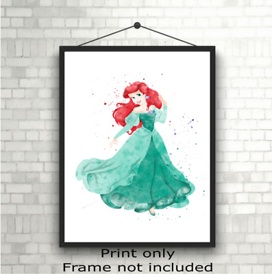 Disney Princess Ariel Childrens Room Wall Art Poster Print Picture Gift A5 A4 A3 • 3.49£