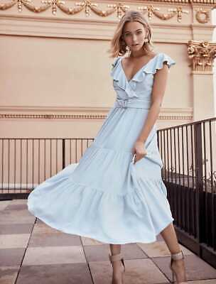AU79.99 • Buy FOREVER NEW ALESSIA MINT RUFFLE MAXI DRESS BN SZ 6 Wedding Party Cocktail