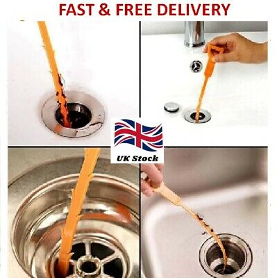 £1.99 • Buy Drain Unblocked Flexible Cleaner Hair Clog Sink Plug Hole Remover Tool Snake