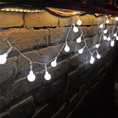 Connectable 100 LED Plug In String Fairy Lights Garden Globe Ball Outdoor Lamp • 12.95£