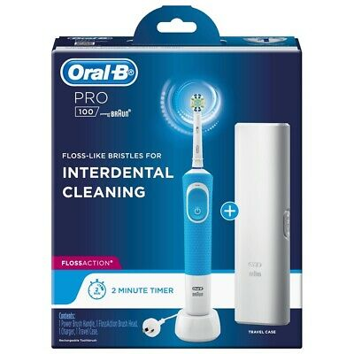 AU49.95 • Buy Oral-B PRO 100 Floss Action Rechargeable Toothbrush Sydney Stock