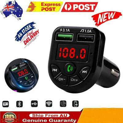 AU11.09 • Buy Wireless Bluetooth FM Transmitter Car Auto Kit Dual-USB Charger Tool Handsfree