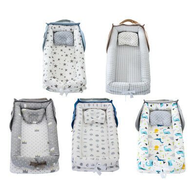£33.55 • Buy Portable Baby Nest Bed For Boys Girls Travel Bed Cotton Cradle Crib Bassinet