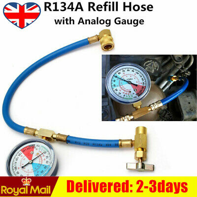 NEW Car Air Conditioning Refrigerant Recharge Measuring Kit Hose Gas Gauge R134A • 8.90£