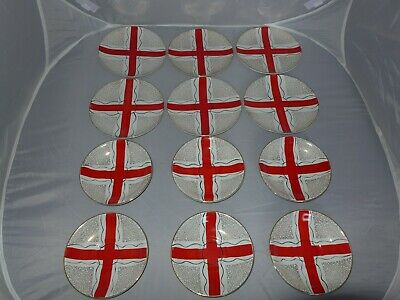 Delphatic China By Barratts England B755897 Saucers & Side Plates Red Cross • 15.99£