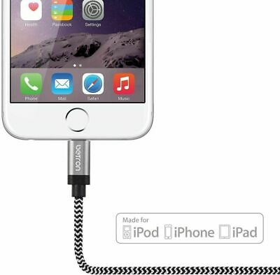 IPhone Charger Cable Lightning USB Data Sync 1m Lead Apple IPhone, IPad, IPod • 5.09£