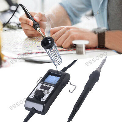 65W Portable LED Pro Digital Electric Iron Adjustable Soldering Station ESD UK • 15.69£