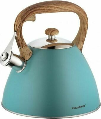 Whistling Kettle 3 L Stainless Steel White Induction  Grey Stove Top Gas  • 27£