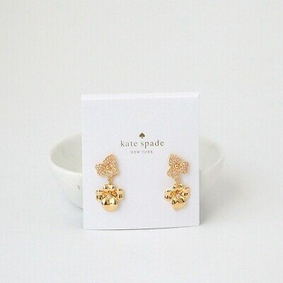 $ CDN31.13 • Buy Kate Spade New York Gold Pave Flower Drop Earrings New