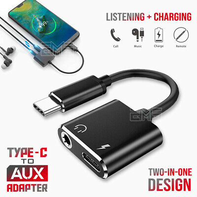 AU6.49 • Buy 2in1 USB C Type-C To 3.5mm Headphone Jack Adapter AUX & Sync Data Charge Cable