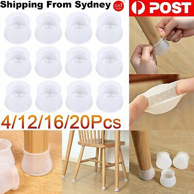 AU10.95 • Buy Silicone Furniture Leg Protection Cover Pad Table Chair Feet Floor Protector Cap