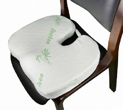 AU20.95 • Buy New Bamboo Memory Foam Cushion Fleece Cover Office Chair Seat Car Stress Relief
