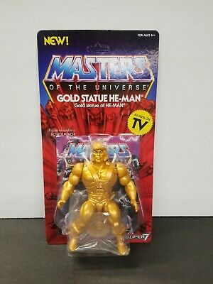 $38 • Buy Masters Of The Universe Gold Statue He-man He Man Super 7 New Mint Unpunched