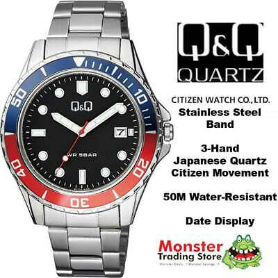 $ CDN64.47 • Buy Qq Citizen Made A172j222 50 Metres Water Resist Gents Divers Style With Date