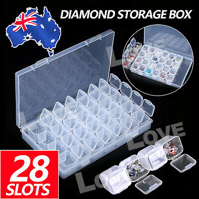 AU11.95 • Buy 28-Slot Diamond Painting Accessories Embroidery Case Geometric Storage Box