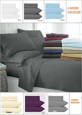 AU36.95 • Buy 4 Pce Bed Sheet Set Super Soft Microfiber 1000 Thread Count With Deep Pocket