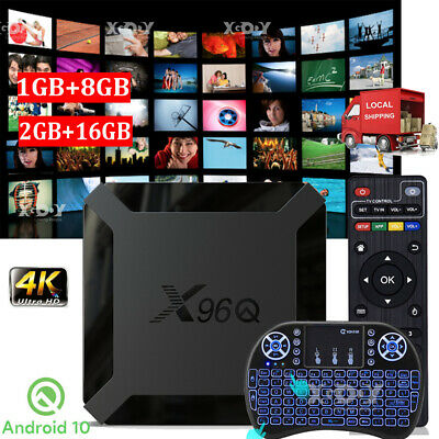 AU53.83 • Buy X96Q H313 2+16G Android 10.0 Keyboard TV BOX WIFI Quad Core 4K Movies Allwinner