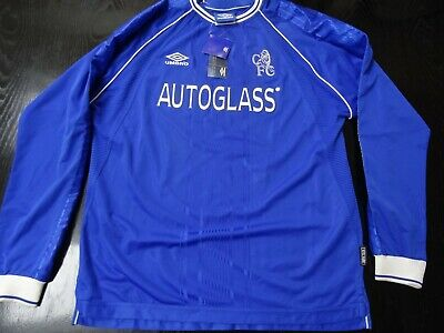 Chelsea Home Shirt Shirt XL + Tags, Signed By Gianfranco Zola With COA  • 270£