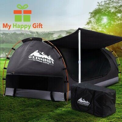 AU253.12 • Buy DARK GREY Weisshorn DOUBLE Size Biking Deluxe Swag Camping Tent Free Standing
