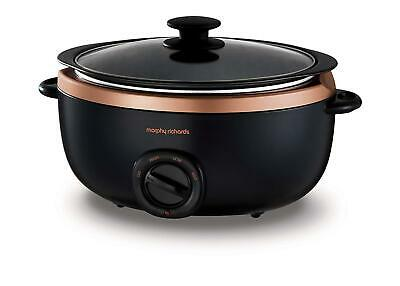 Morphy Richards 461016 Sear & Stew Slow Cooker Glass Lid 6.5L Rose Gold [Refurb] • 39.99£