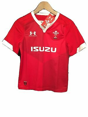 £34.99 • Buy Under Armour Boys Large Youth Wales Rugby Home Shirt 2019 Short Sleeve Official
