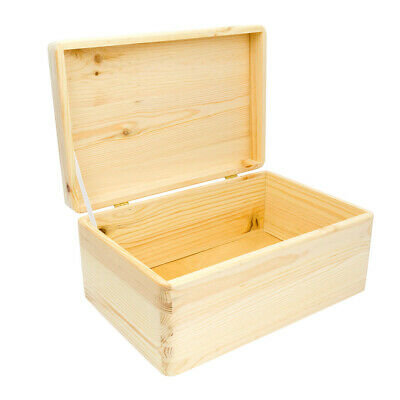 Storage Box With Lid, Large Wooden Storage Box. Personalised Keepsake Box • 11.99£