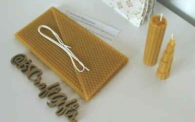 £10.90 • Buy Beeswax Sheets, DIY Beeswax Candle Kit, Starter Candle Kit, Candle Kit