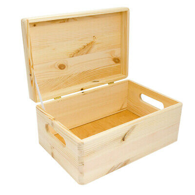 Wooden Box, Large Wooden Box With Lid, Wooden Box With Handles, Personalised   • 16.50£