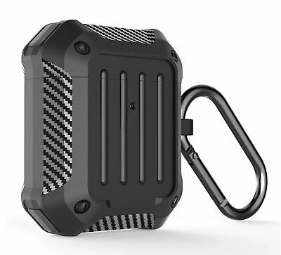 AU13.95 • Buy Apple AirPods Gen 1 2 Case Cover Carbon Fibre TPU Shockproof Waterproof