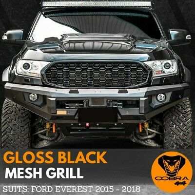 AU249 • Buy FRONT MESH GRILL Fits FORD EVEREST 2015 2016 2017 2018 MATTE BLACK GRILLE